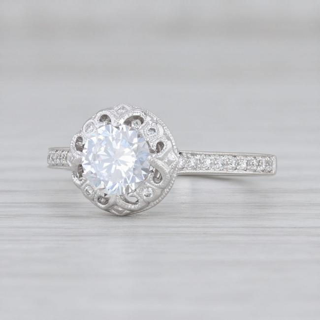 Item - 14k White Gold New Semi Mount Diamond Size 6.5 Engagement Ring