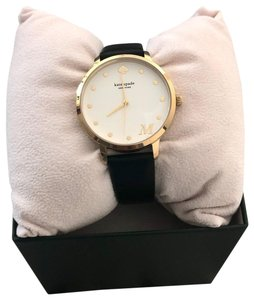 Kate Spade Kate Spade Letter M Metro Leather Strap Watch