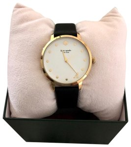 Kate Spade Kate Spade Letter A Metro Leather Strap Watch