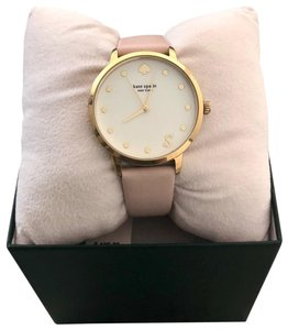 Kate Spade Kate Spade Letter S Metro Leather Strap Watch