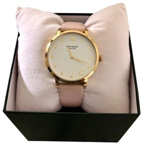 Kate Spade Kate Spade Letter C Metro Leather Strap Watch
