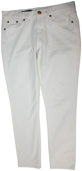 Item - White Toothpick Straight Leg Jeans Size 27 (4, S)