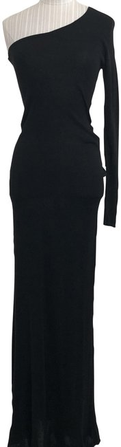 "Item - Vibrant Black One/Cold Shoulder ""Anadia"" Style#llp6p684 Long Casual Maxi Dress Size 2 (XS)"