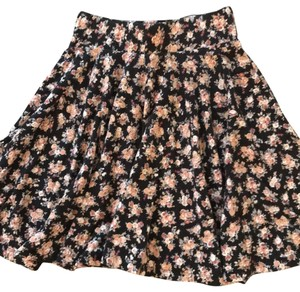 Pins and Needles Mini Skirt black with flowers (see photo)