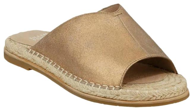 Item - Gold Milly Metallic Espadrille Flats Sandals Size US 7 Regular (M, B)