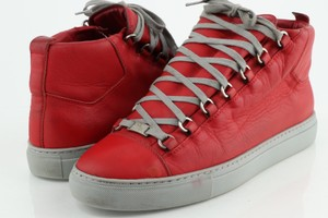 Balenciaga Red High Sneakers Shoes