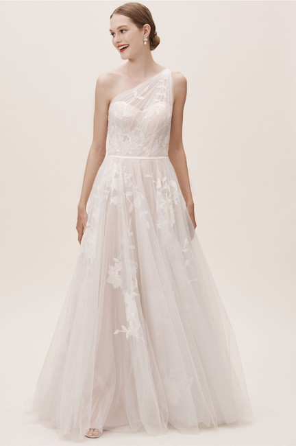 Item - Ivory Acantha Willowby By Watters Feminine Wedding Dress Size 4 (S)