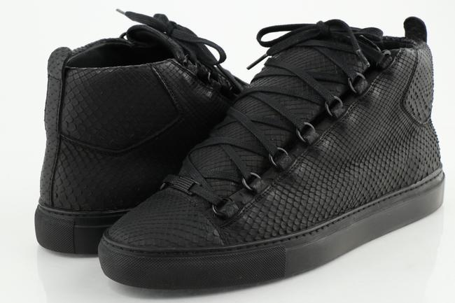 Item - Black Python Arena High Sneakers Shoes