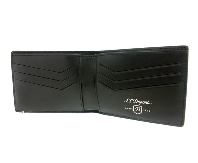 Item - Black 170401dc Défi Perforated 6 Card Leather Wallet