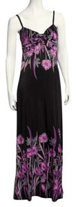 Black and Purple Maxi Dress by Just Love