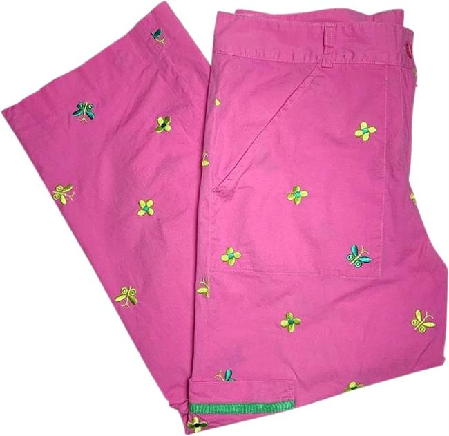 Item - Pink and Green Butterfly Pants Size 6 (S, 28)
