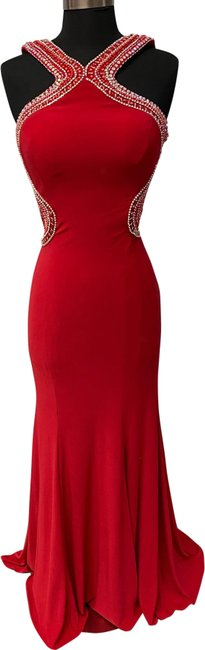 Item - Red 2426 Long Formal Dress Size 6 (S)
