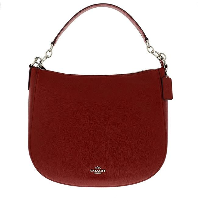 Item - Chelsea 58036/ F58036 Red Curent Leather Hobo Bag