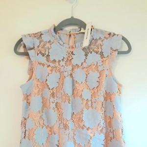 Monteau Los Angeles Top Cream and light blue