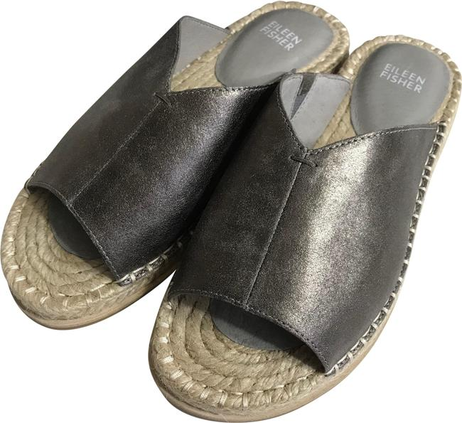Item - Gray Venus Milly Metallic Espadrille Flats Sandals Size US 7 Regular (M, B)