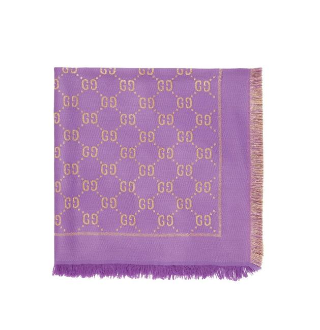 Item - Violet and Gold In Lurex Fabric with Gg Monogram Scarf/Wrap