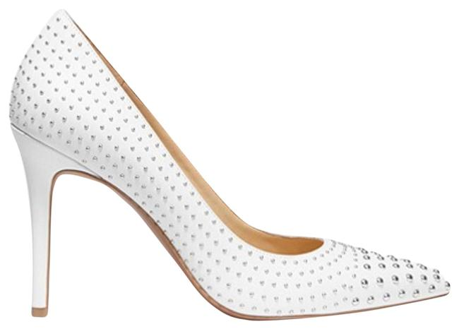 Item - White New Studded Embellishment Point Toe High Heels Pumps Size US 5.5 Regular (M, B)