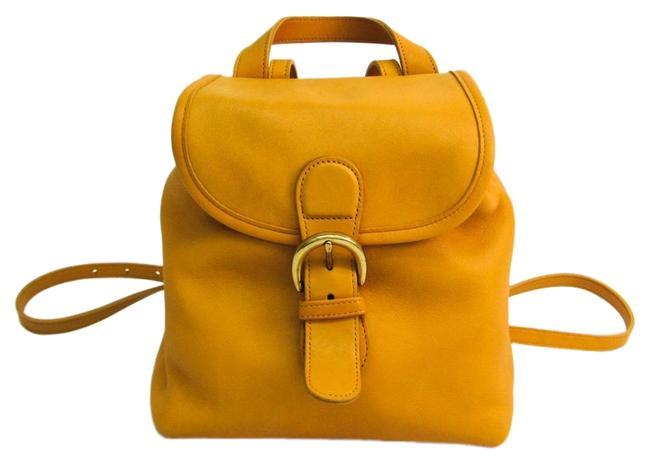 Item - Old 4152 Women's Yellow Leather Backpack