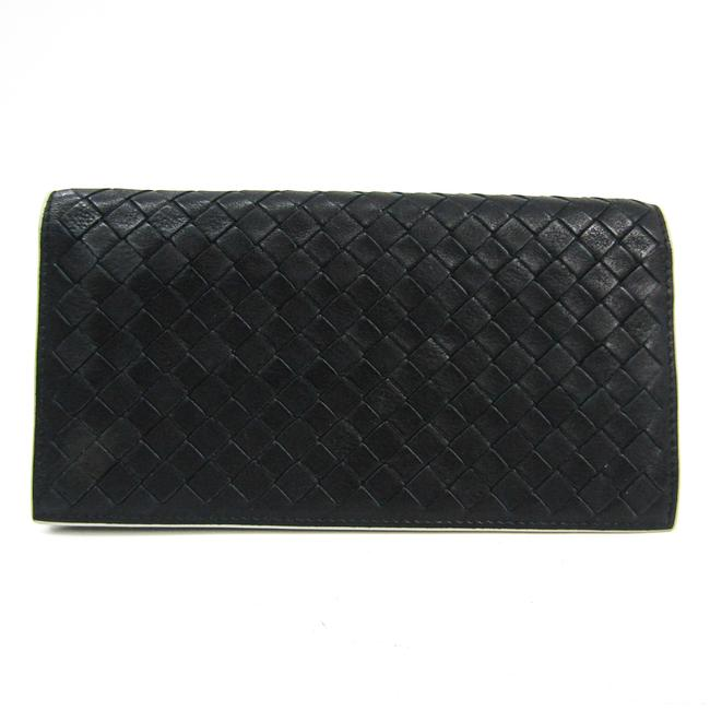 Item - Black / Ivory Long Intrecciato By Color Unisex Leather (Bi-fold) Wallet