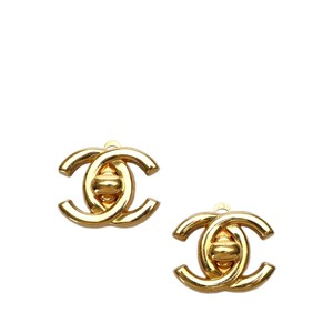 Chanel Chanel Metal CC Turn-Lock Clip-On Earrings