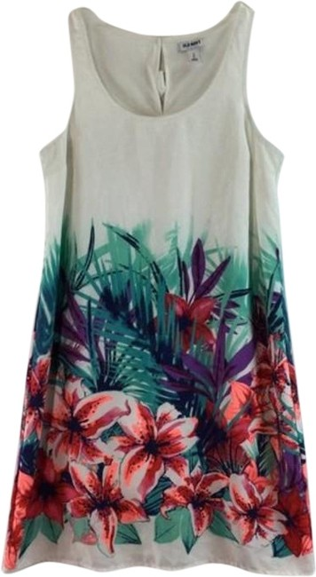 Item - Red & White Floral Print Sleeveless Mid-length Casual Maxi Dress Size 4 (S)