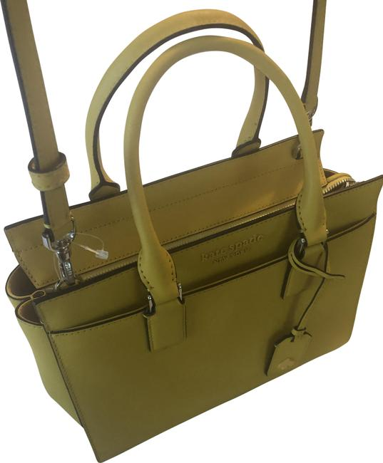 Item - Canary Yellow Lambskin Leather Satchel