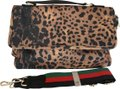 ahdorned New York Crossbody Satchel in Leopard Print