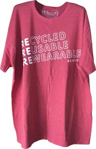 Coca-Cola Recycled Bottles Crewneck Sleeves Machine Washable T Shirt Red