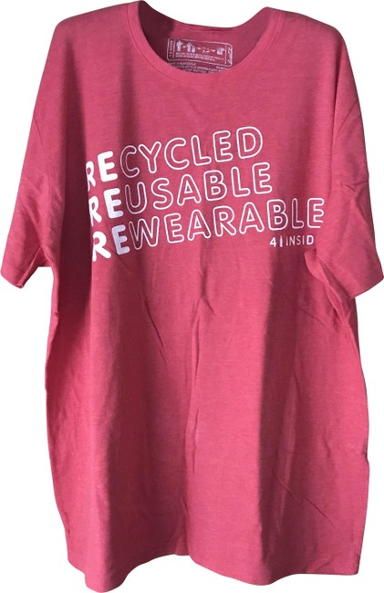 Item - Red Recylced Tee Shirt Size 22 (Plus 2x)