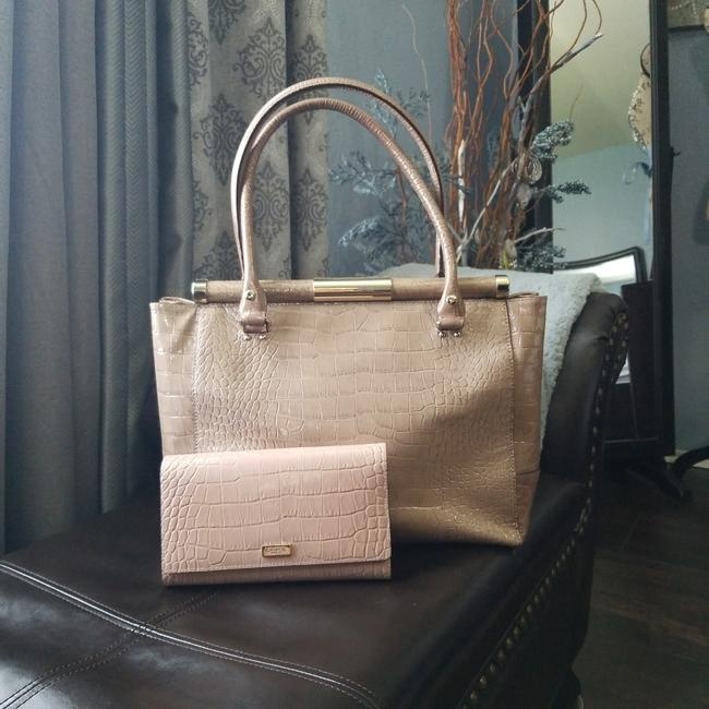 Item - And Wallet Combo Mauve Leather Tote