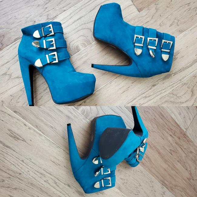 Item - Turquoise Suede Boots/Booties Size US 7.5 Regular (M, B)