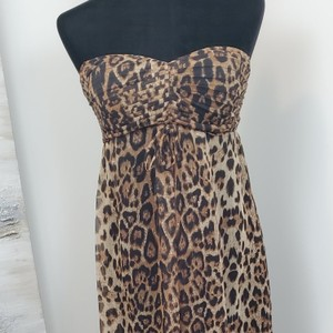 Tan and Brown Maxi Dress by Sans Souci