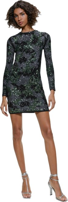 Item - Green New Sequin Mini Bandage Ref 4193/102 Short Night Out Dress Size 4 (S)