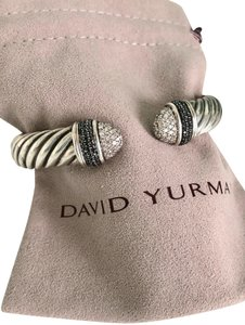David Yurman Black & White Diamond Waverly Cuff Bracelet