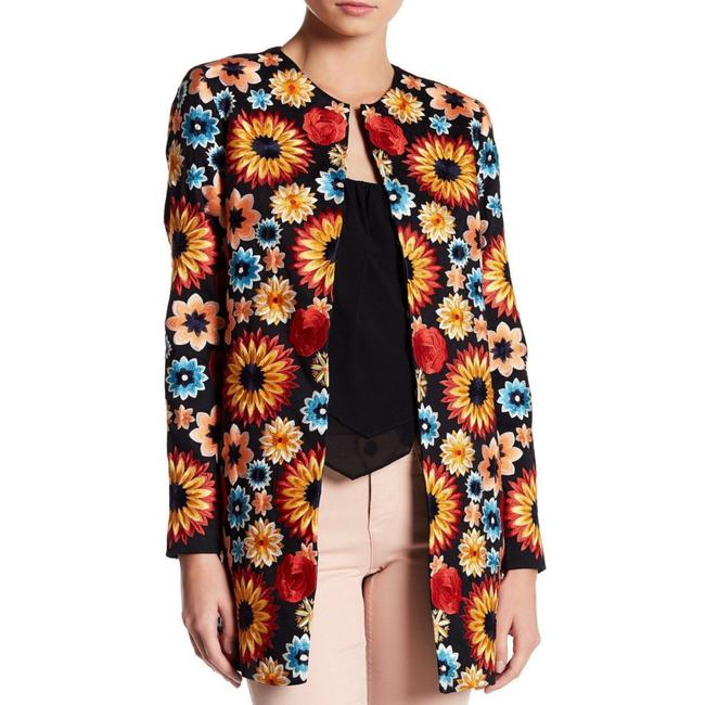 Item - Black/Multi Rory Floral Embroidered Jacket Size 8 (M)