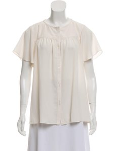 Hatch Maternity Sheer Classic Feminine Flowy Top ivory