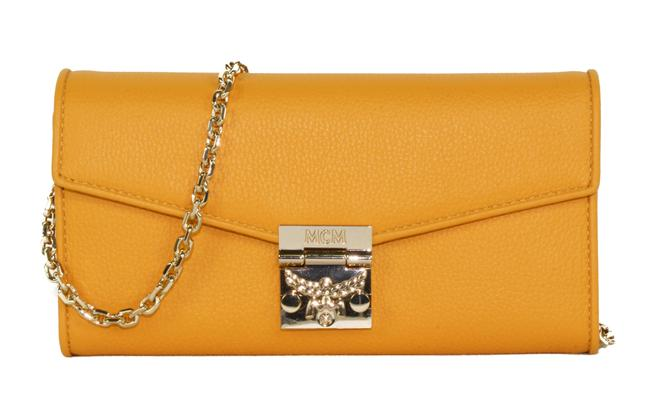 Item - New Patricia Large Wallet Golden Mango Yellow Leather Cross Body Bag