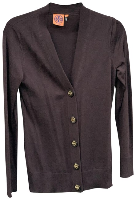 Tory Burch Brown Signature Cardigan Size 4 (S) Tory Burch Brown Signature Cardigan Size 4 (S) Image 1