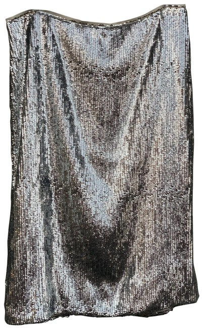 Item - Silver Sequin Skirt Size 12 (L, 32, 33)