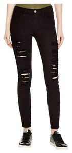 FRAME Distressed Moto Ripped Skinny Jeans-Distressed