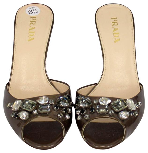 Item - Copper Patent Leather Jewel Mules/Slides Size EU 36.5 (Approx. US 6.5) Regular (M, B)