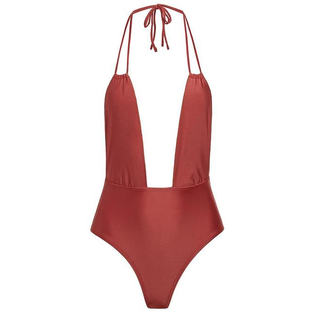 Item - Red Sienna Private Beach Swimsuit Resort M One-piece Bathing Suit Size 8 (M)