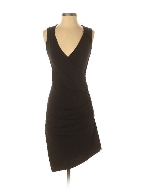 Item - Black Ruched Little Sleeveless Short Casual Dress Size 6 (S)