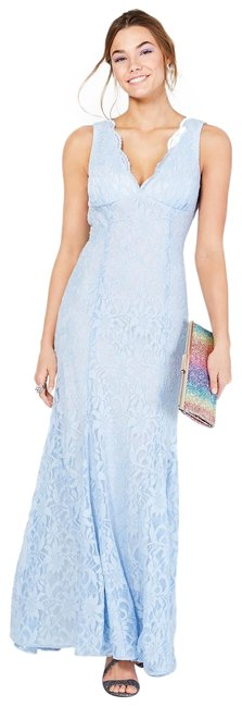 Item - Ice Blue Company Juniors' Open-back Glitter-lace Gown 1/2 Long Formal Dress Size 0 (XS)