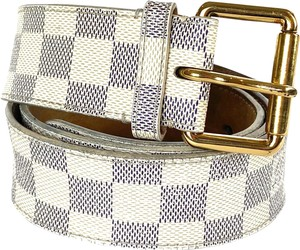 Louis Vuitton Damier Azur Belt 90/38 18la529