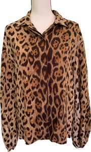 Perry Ellis Top Animal Print