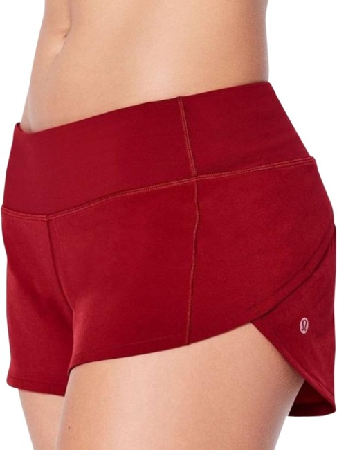 """Item - Red Speed Up Updated Fit 4"""" Inseam Activewear Bottoms Size 6 (S, 28)"""