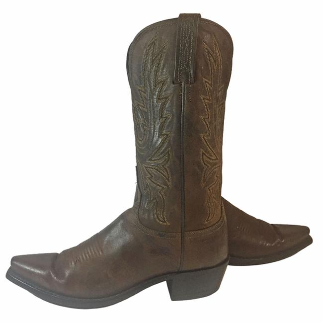 Item - Brown 1883 Leather Western Women's B Boots/Booties Size US 10 Regular (M, B)