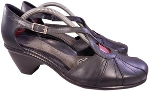 Dansko Woman Woman Size 39 Cross Straps Buckle BLACK Pumps