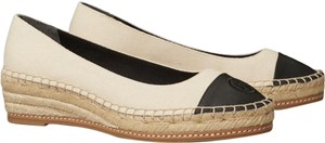 Tory Burch Espadrille Cream and black Wedges